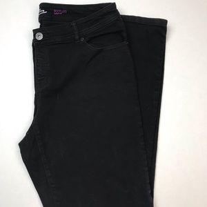 inc denim black jean boot leg curvy fit